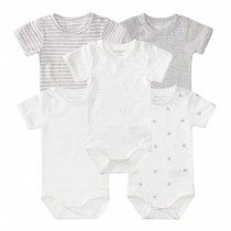 ORGANIC COTTON Baby Body 5er-Set Unisex - Bunt