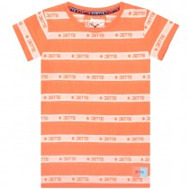 JETTE T-Shirt Streifen - Bright Orange