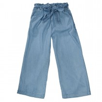 JETTE Culotte mit Bindegürtel - Midblue Denim