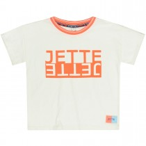 JETTE T-Shirt Label Print - Offwhite
