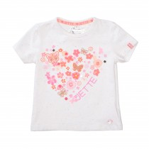 JETTE T-Shirt FLOWERS - Offwhite