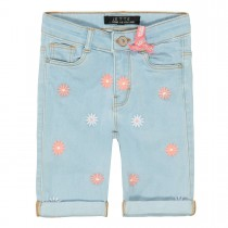 JETTE Capri Short Denim - Light Blue Denim
