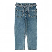 Paperbag Jeans - Mid Blue Denim