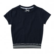 JETTE Cropped T-Shirt - Deep Sea