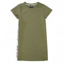 JETTE Kleid mit Seitenstreifen - Dark Khaki