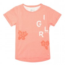 JETTE T-Shirt 2in1 - Bright Coral Melange