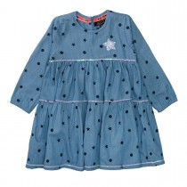 JETTE Kleid STAR - Dark Denim