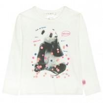 JETTE Langarmshirt  - Offwhite mit Panda-Print