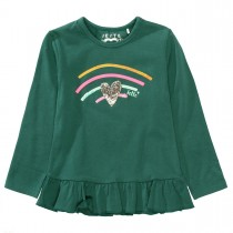 JETTE Langarmshirt Rainbow - Evergreen