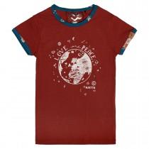JETTE T-Shirt mit Kontrast-Paspelierung - Rot