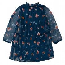 JETTE Kleid mit Blumen-Print - Night Petrol