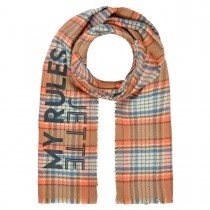 JETTE Schal mit Karo-Muster - Smoky Blue Check