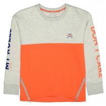 Sweater mit Print - Silvergrey Melange