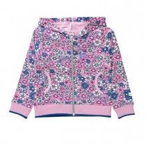 Sweatjacke mit Blumenmuster - Lilac Rosy
