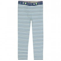 JETTE Streifenleggings - Steel Blue
