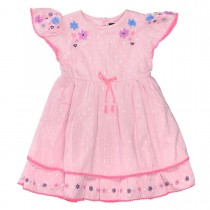 JETTE Kleid mit Blumen-Applikation - Lilac Rosy