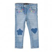 JETTE Mädchen Skinny Jeans Slim Fit - Mid Blue Denim