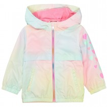 JETTE Jacke mit Farbverlauf und Herzchen-Print - Rose DYED