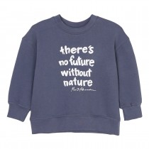 MARC O'POLO Sweatshirt mit Wording-Print - Washed Blue