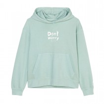 MARC O'POLO Hoodie mit Statement-Print - Soft Green