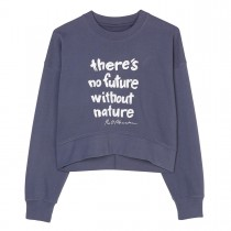 MARC O'POLO Sweatshirt mit Statement-Print - Washed Blue