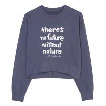 MARC O'POLO Sweatshirt mit Statement-Print - Washed Blue
