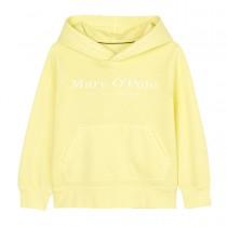 MARC O'POLO Hoodie mit Logo-Print - Bright Yellow