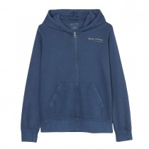 MARC O'POLO Kapuzensweatjacke mit Print - Washed Blue