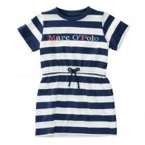 MARC O'POLO Kleid aus Bio-Baumwolle - Washed Blue Streifen