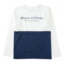MARC O'POLO Longsleeve aus Bio-Baumwolle - Offwhite Washed Blue