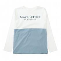 MARC O'POLO Longsleeve aus Bio-Baumwolle - Offwhite Sky Blue