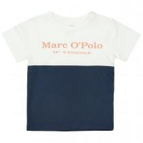 MARC O'POLO T-Shirt aus Bio-Baumwolle - Offwhite Washed Blue