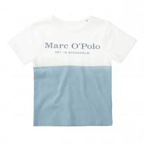 MARC O'POLO T-Shirt aus Bio-Baumwolle - Offwhite Sky Blue