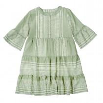 ATTENTION Kleid mit Allover-Print - Khaki