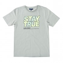 ATTENTION T-Shirt mit Print - Stone Grey