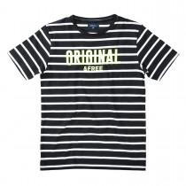 ATTENTION T-Shirt im Streifen-Design - Black
