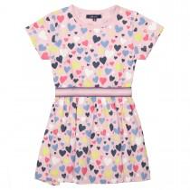 ATTENTION Kleid mit elastischen Gummibündchen - Powder