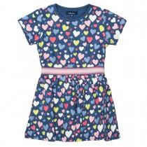 ATTENTION Kleid mit elastischen Gummibündchen - Deep Blue