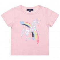 ATTENTION T-Shirt mit Einhorn aus Wendepailletten - Powder