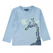 ATTENTION Langarmshirt mit Print - Mid Blue
