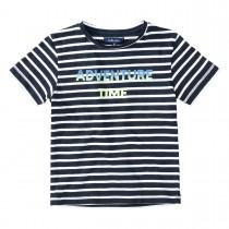 ATTENTION T-Shirt im Streifen-Design - Dark Navy