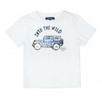 ATTENTION T-Shirt mit Wendepailletten - Clear White