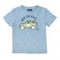 ATTENTION T-Shirt mit Wendepailletten - Mid Blue